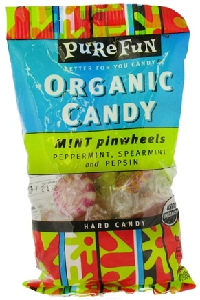DROPPED: Pure Fun - Organic Hard Candy Pinwheels Mint - 3.5 oz.