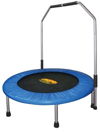 DROPPED: Pure Fun Trampolines - Mini Trampoline with Handrail 9005MTH - 40 in.