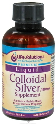 DROPPED: Life Solutions - Colloidal Silver Supplement 1000 Ppm - 2 oz. CLEARANCE PRICED