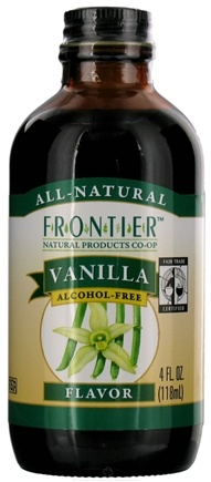 DROPPED: Frontier Natural Products - All-Natural Alcohol-Free Flavor Vanilla - 4 oz. CLEARANCE PRICED