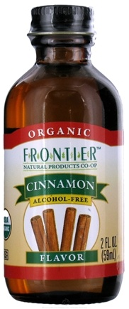 DROPPED: Frontier Natural Products - Organic Alcohol-Free Flavor Cinnamon - 2 oz. CLEARANCE PRICED