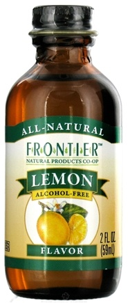 DROPPED: Frontier Natural Products - All-Natural Alcohol-Free Flavor Lemon - 2 oz. CLEARANCE PRICED