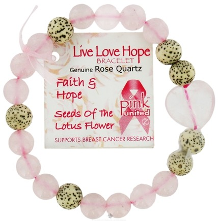 DROPPED: Zorbitz - Live Love Hope Genuine Rose Quartz Bracelet Faith & Hope Seeds Of The Lotus