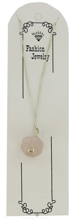 DROPPED: Zorbitz - Live Love Hope Genuine Rose Quartz Necklace Miracles Rose