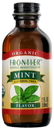 DROPPED: Frontier Natural Products - Organic Alcohol-Free Flavor Mint - 2 oz. CLEARANCE PRICED