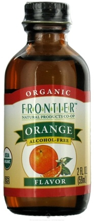 DROPPED: Frontier Natural Products - Organic Alcohol-Free Flavor Orange - 2 oz. CLEARANCE PRICED