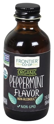 Frontier Natural Products - Organic Alcohol-Free Flavor Peppermint - 2 oz.