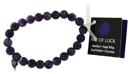 Zorbitz - Art Of Luck Bracelet Amethyst Angel Wing Good Health & Protection