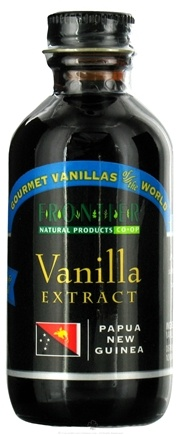 DROPPED: Frontier Natural Products - Organic Vanilla Extract Papua New Guinea - 2 oz. CLEARANCE PRICED