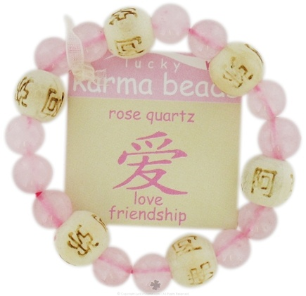 DROPPED: Zorbitz - Lucky Karma Beads Kid's Bracelet Rose Quartz Love Friendship - CLEARANCE PRICED