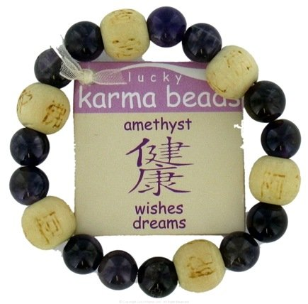DROPPED: Zorbitz - Lucky Karma Beads Kid's Bracelet Amethyst Wishes Dreams - CLEARANCE PRICED