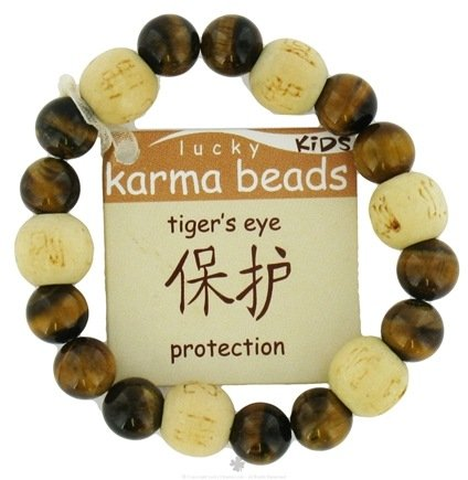 DROPPED: Zorbitz - Lucky Karma Beads Kid's Bracelet Tiger's Eye Protection - CLEARANCE PRICED