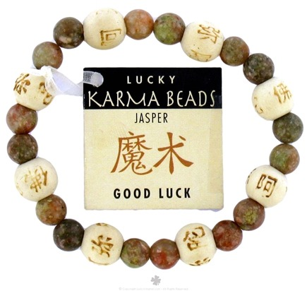 DROPPED: Zorbitz - Karmalogy Lucky Karma Beads Bracelet Jasper Good Luck