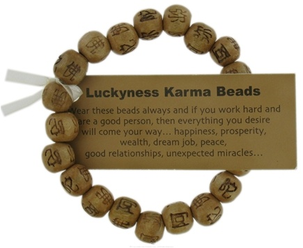 DROPPED: Zorbitz - Luckyness Karma Beads Wood Bracelet Brown