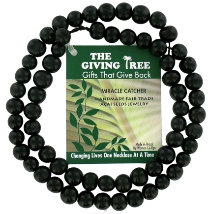 DROPPED: Zorbitz - The Giving Tree Lucky Acai Seeds Miracle Catcher Necklace Black