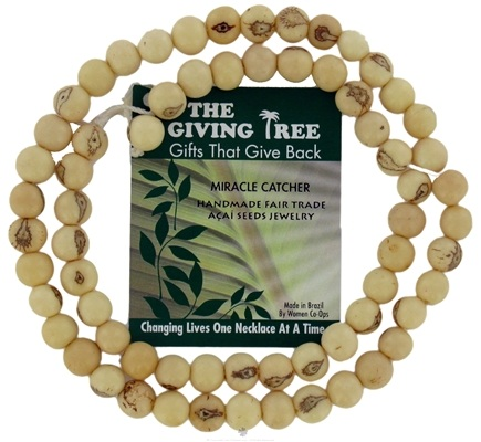 DROPPED: Zorbitz - The Giving Tree Lucky Acai Seeds Miracle Catcher Necklace Natural White - CLEARANCE PRICED