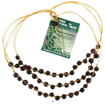 DROPPED: Zorbitz - The Giving Tree Lucky Acai Seeds Good Luck Catcher Necklace Burgundy