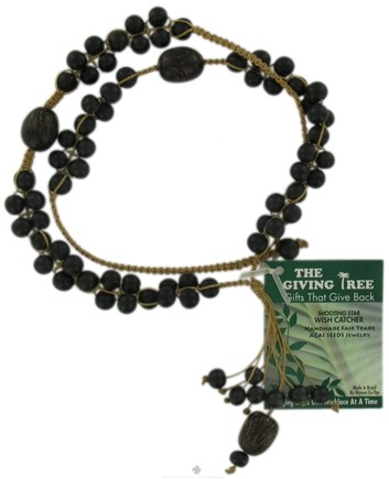 DROPPED: Zorbitz - The Giving Tree Lucky Acai Seeds Shooting Star Wish Catcher Necklace Black
