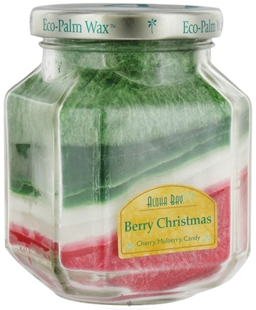 DROPPED: Aloha Bay - Deco Jar Candle Berry Christmas - 8.5 oz. CLEARANCE PRICED