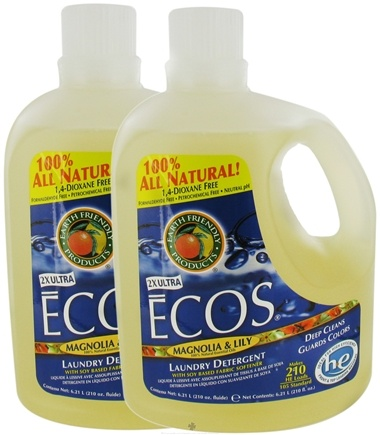 DROPPED: Earth Friendly - ECOS Laundry Detergent With Soy Based Fabric Softener 2X Ultra Magnolia & Lily