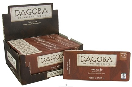 DROPPED: Dagoba Organic Chocolate - Bar Dark Chocolate Conacado 73% Cacao - 2 oz.