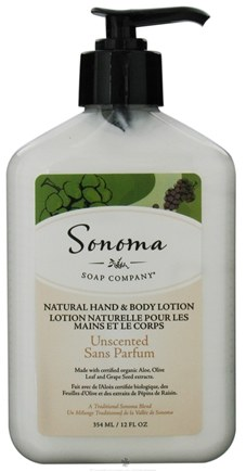 DROPPED: Sonoma Soap - Natural Hand & Body Lotion Unscented - 12 oz. CLEARANCE PRICED