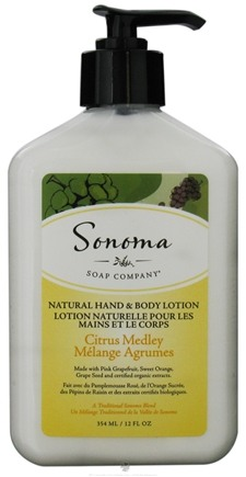 DROPPED: Sonoma Soap - Natural Hand & Body Lotion Citrus Medley - 12 oz. CLEARANCE PRICED