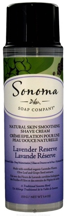 DROPPED: Sonoma Soap - Natural Skin Smoothing Shave Cream Lavender Reserve - 5.4 oz.