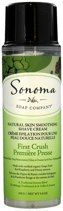 DROPPED: Sonoma Soap - Natural Skin Smoothing Shave Cream First Crush - 5.4 oz. CLEARANCE PRICED