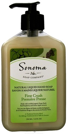 DROPPED: Sonoma Soap - Natural Liquid Hand Soap First Crush - 12 oz. CLEARANCE PRICED