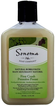 DROPPED: Sonoma Soap - Natural Bubble Bath First Crush - 12 oz. CLEARANCE PRICED