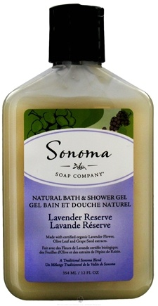 DROPPED: Sonoma Soap - Natural Bath & Shower Gel Lavender Reserve - 12 oz. CLEARANCE PRICED