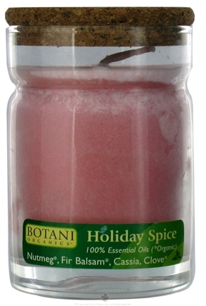DROPPED: Aloha Bay - Botani Organics Jar Candle Holiday Spice - 4.5 oz. CLEARANCE PRICED