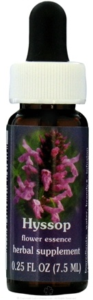 DROPPED: Flower Essence Services - Range of Light Dropper Hyssop Flower Essence - 0.25 oz. CLEARANCE PRICED