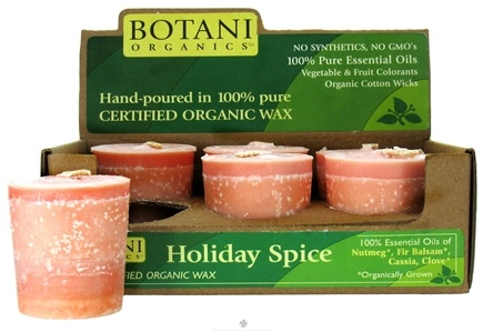 DROPPED: Aloha Bay - Botani Organics Votive Candles Holiday Spice - 6 Pack(s) CLEARANCE PRICED
