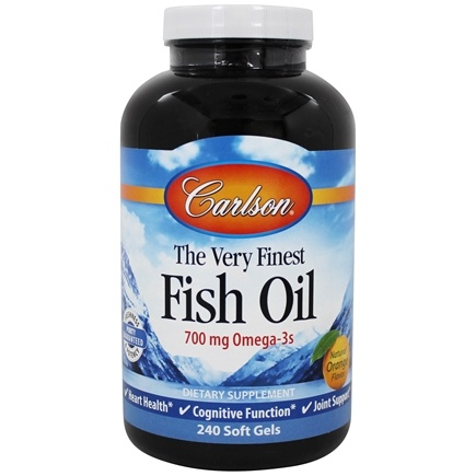 Carlson Labs - The Very Finest Norwegian Fish Oil Orange Flavor 1000 mg. - 240 Softgels