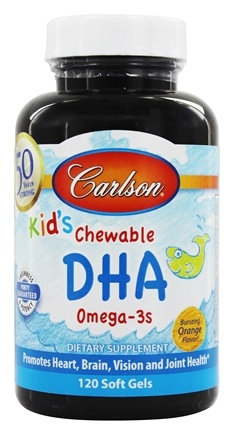 Carlson Labs - Carlson Kid's Chewable DHA Bursting Orange Flavor - 120 Softgels