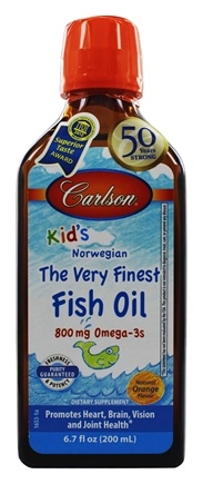 Carlson Labs - Carlson Kid's The Very Finest Norwegian Fish Oil Great Orange Taste - 6.7 oz.