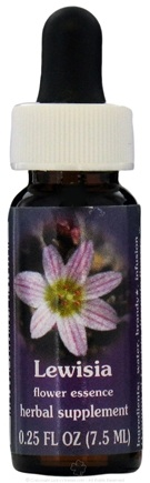 DROPPED: Flower Essence Services - Range of Light Dropper Lewisia Flower Essence - 0.25 oz. CLEARANCE PRICED