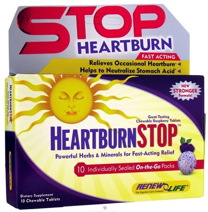 DROPPED: ReNew Life - Heartburn Stop On-The-Go Pack - 10 Chewable Tablets