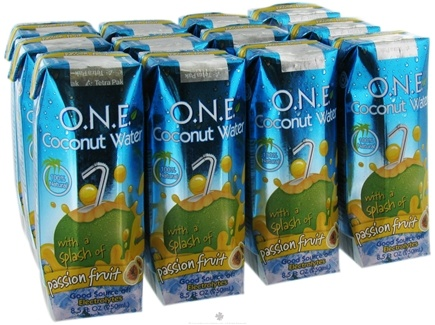 DROPPED: O.N.E. - Coconut Water 100% Natural Passion Fruit - 8.5 oz.