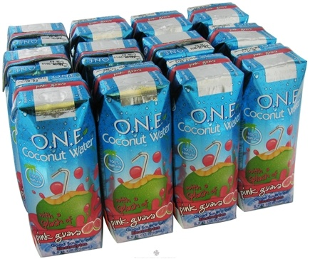 DROPPED: O.N.E. - Coconut Water 100% Natural Pink Guava - 8.5 oz.