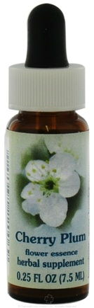 DROPPED: Flower Essence Services - Healing Herbs Dropper Cherry Plum - 0.25 oz. CLEARANCE PRICED