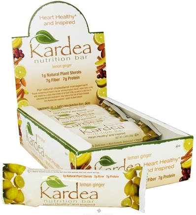 DROPPED: Kardea Nutrition - Natural Nutrition Bar Lemon Ginger - 1.4 oz.