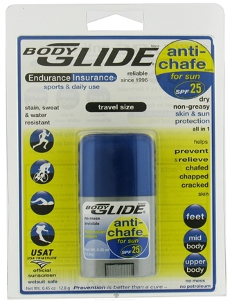 DROPPED: BodyGlide - Anti-Chafe SPF 25 Travel Size - 0.45 oz. CLEARANCE PRICED