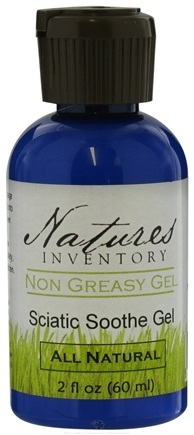 DROPPED: Nature's Inventory - Non Greasy Gel All Natural Sciatic Soothe Gel - 2 oz. CLEARANCE PRICED