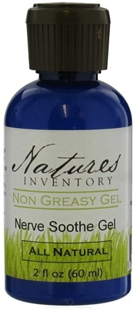 DROPPED: Nature's Inventory - Non Greasy Gel All Natural Nerve Soothe Gel - 2 oz. CLEARANCE PRICED