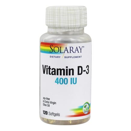 Solaray - Vitamin D-3 400 IU - 120 Softgels