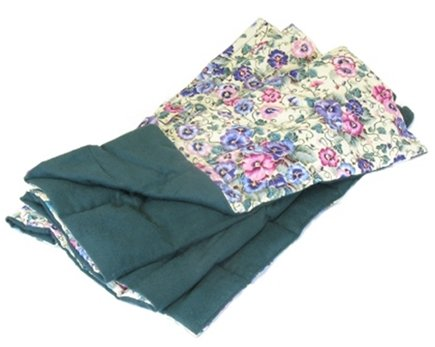 "DROPPED: Grampa's Garden - The Body Blanket (56"" x 20"") Pansy with Green Flannel Back - CLEARANCE PRICED"
