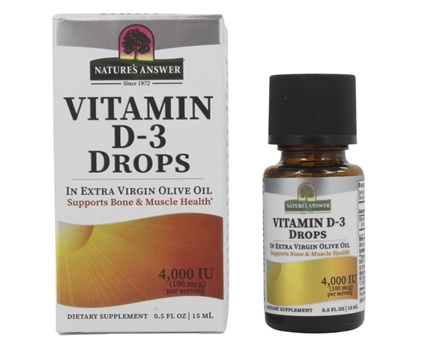 Nature's Answer - Vitamin D-3 Liquid Drops 4000 IU - 15 ml.